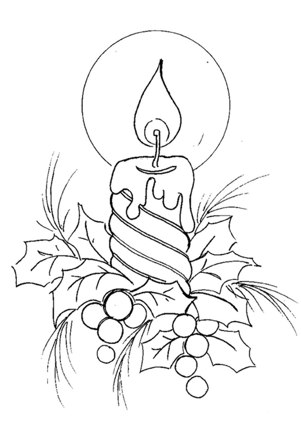 Черно белая красивая новогодняя картинка для распечатки
