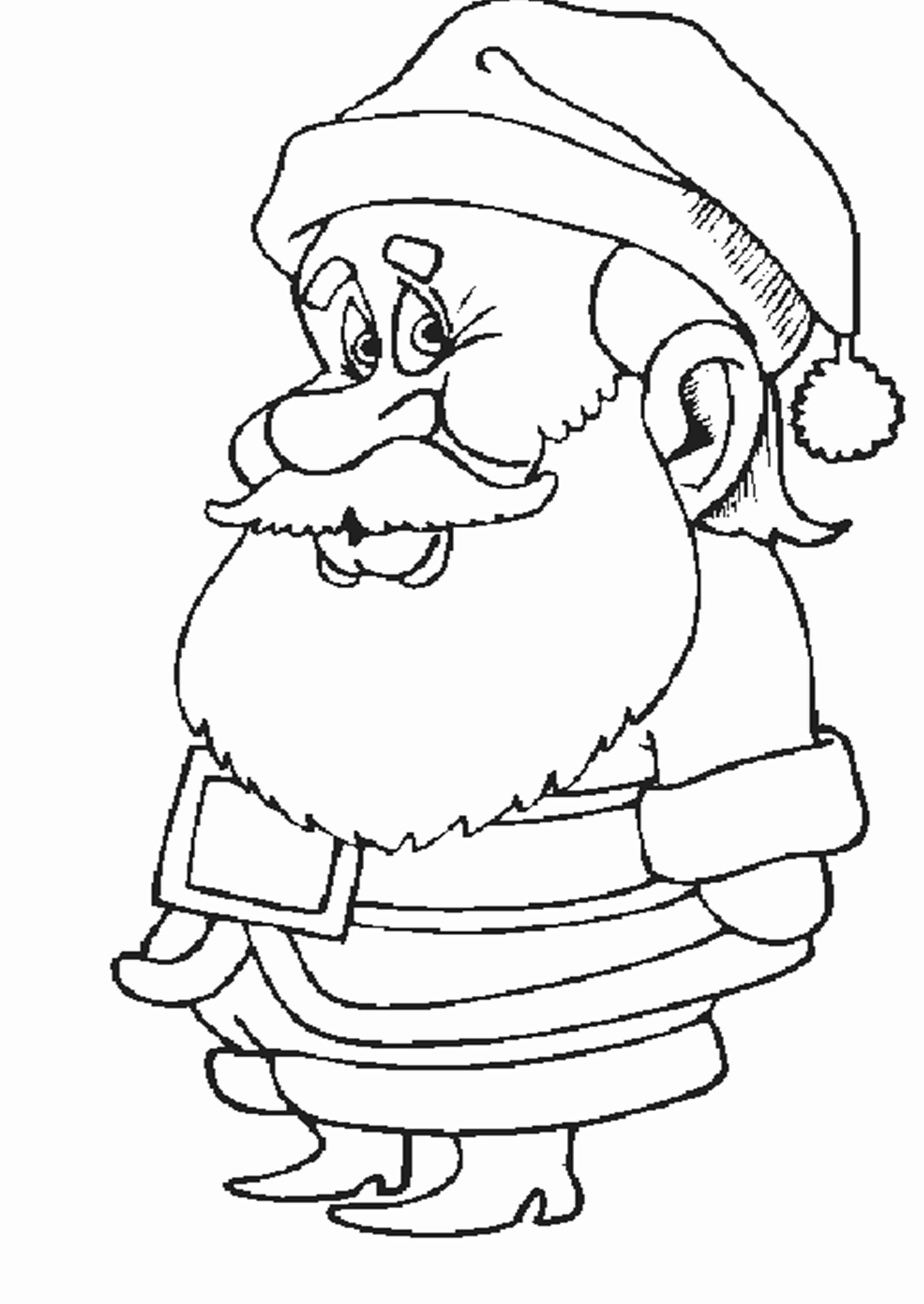 Новогодняя картинка раскраска для детей для печати