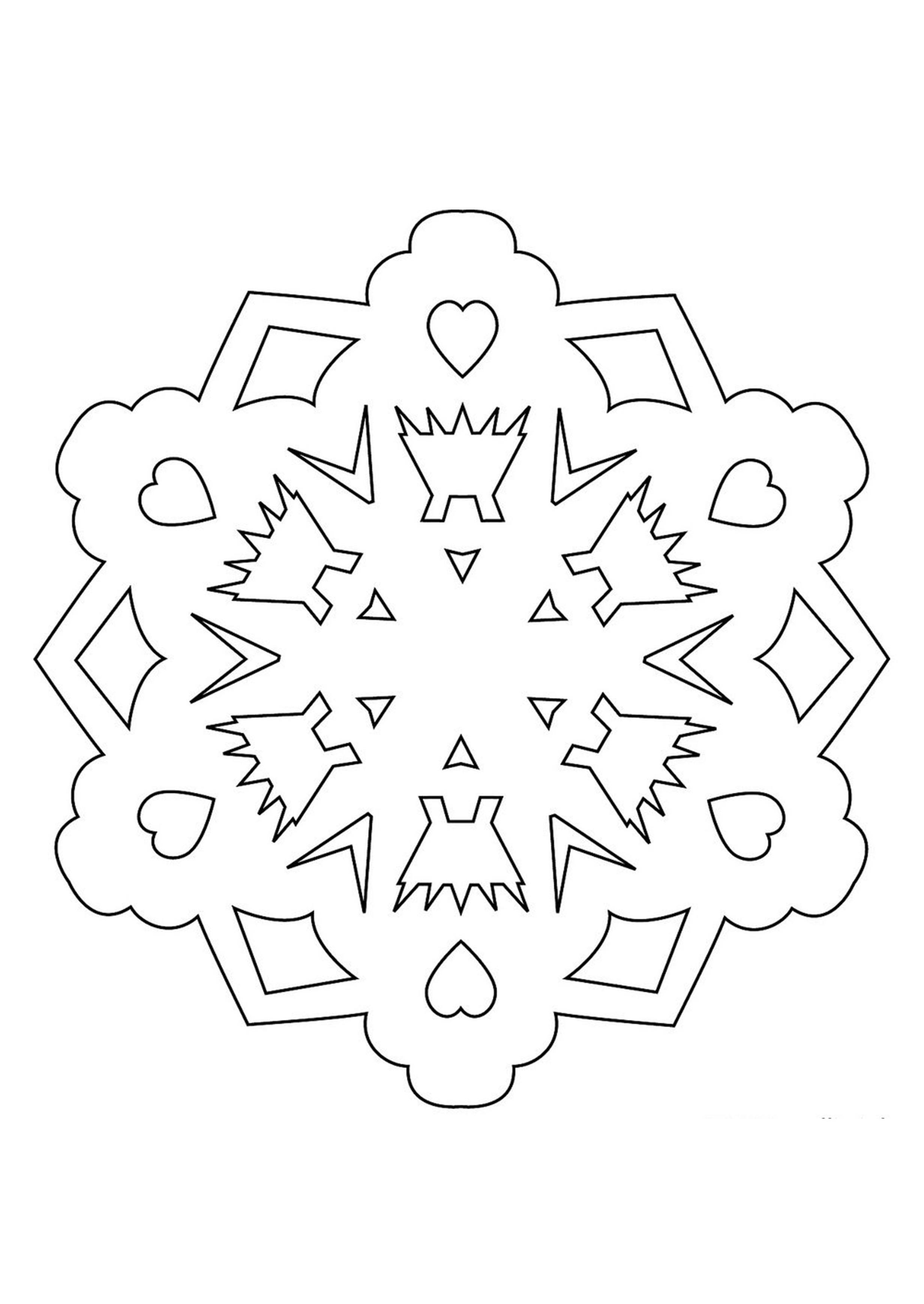 Новогодняя картинка для распечатки на окна снежинки