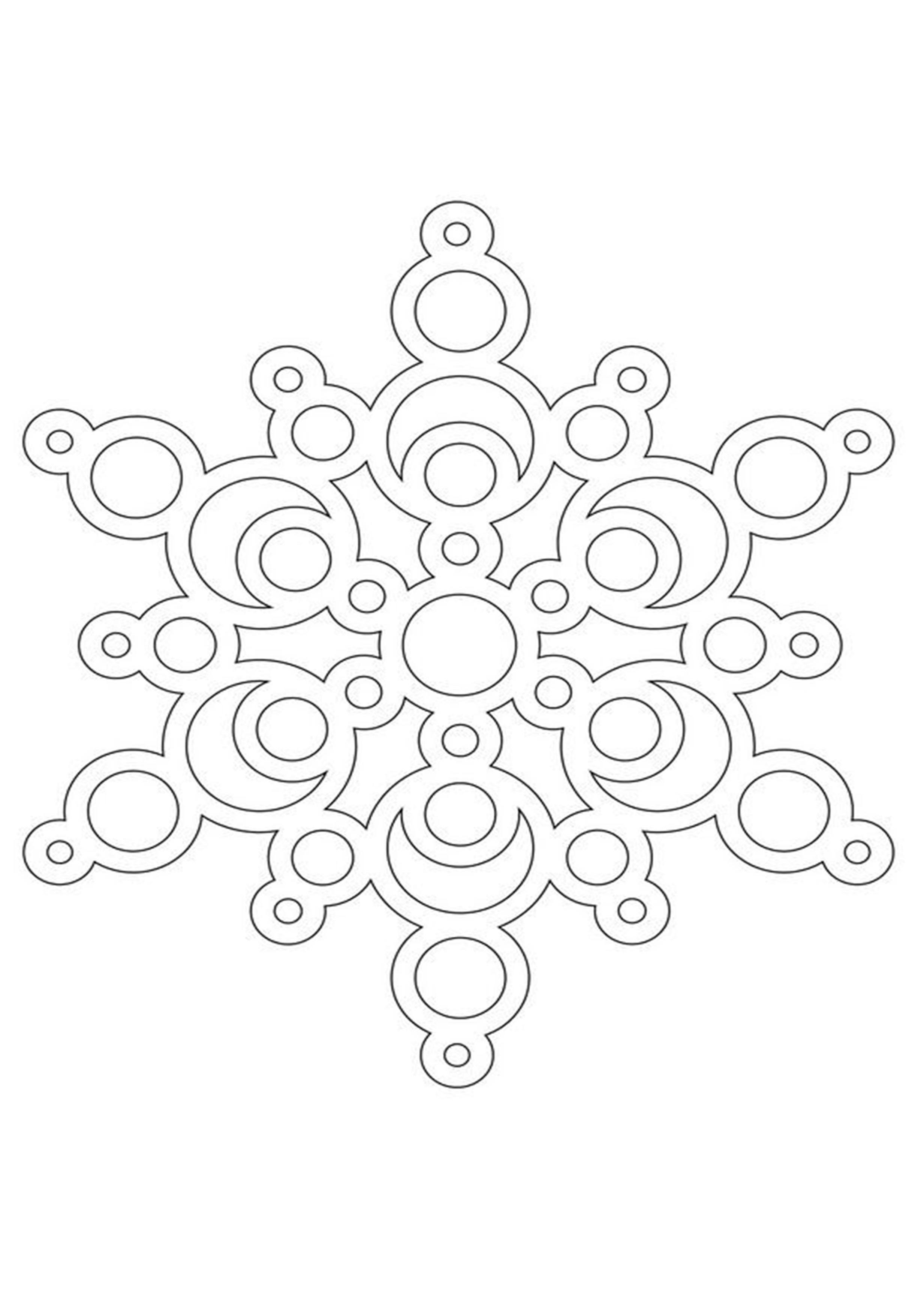 Новогодняя картинка для распечатки со снежинками