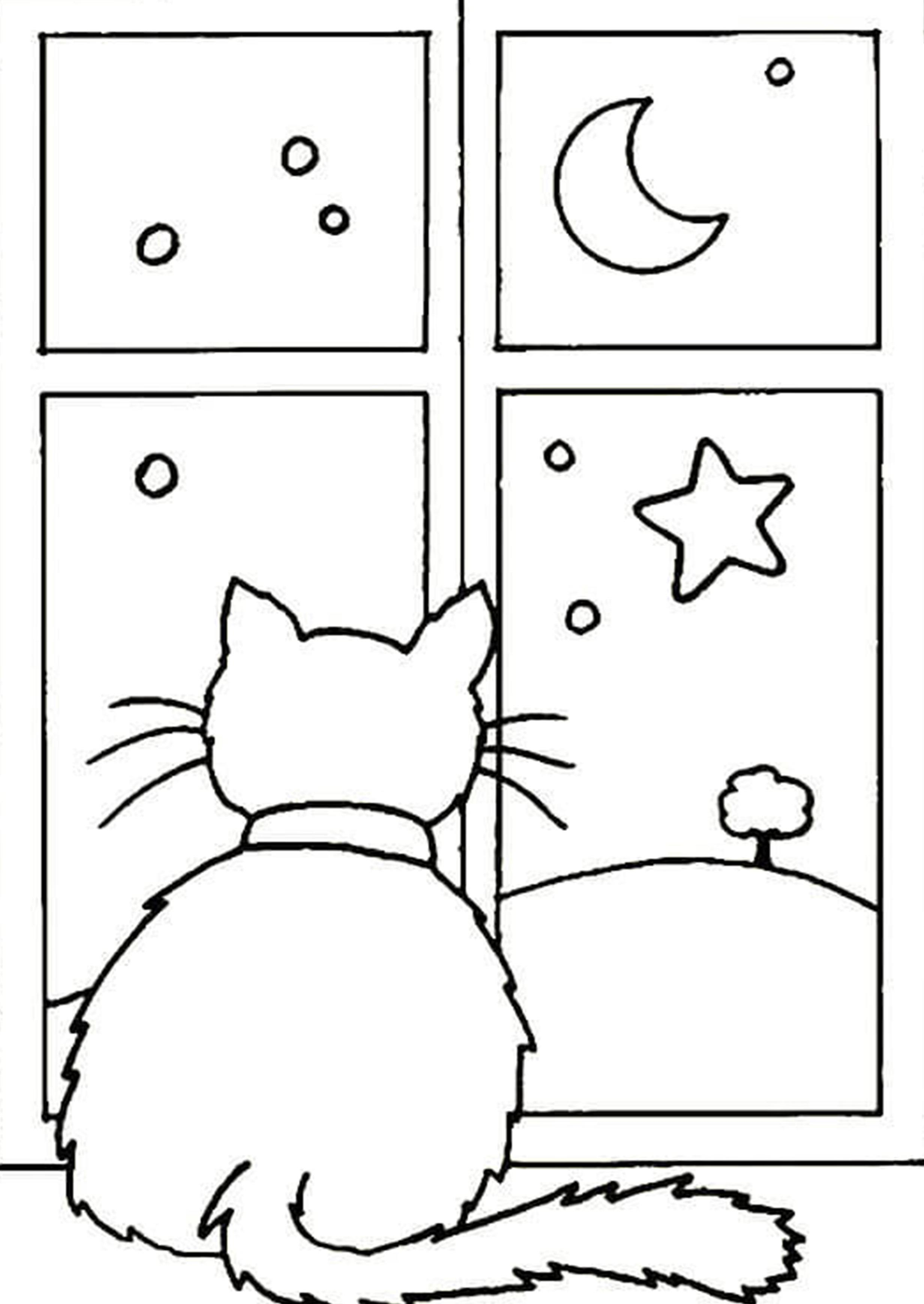 Новогодняя картинка раскраска с животными