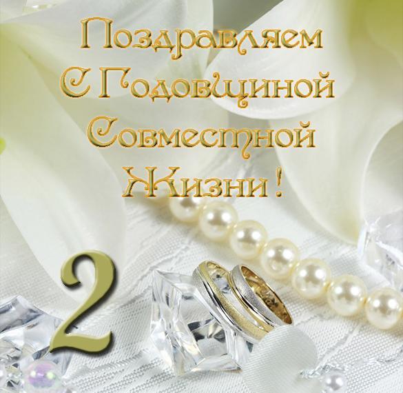 Смс поздравления 2 года совместной жизни