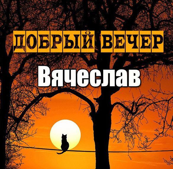 Открытка добрый вечер Вячеслав