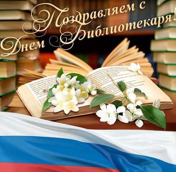 Открытка в картинке с днем библиотекаря