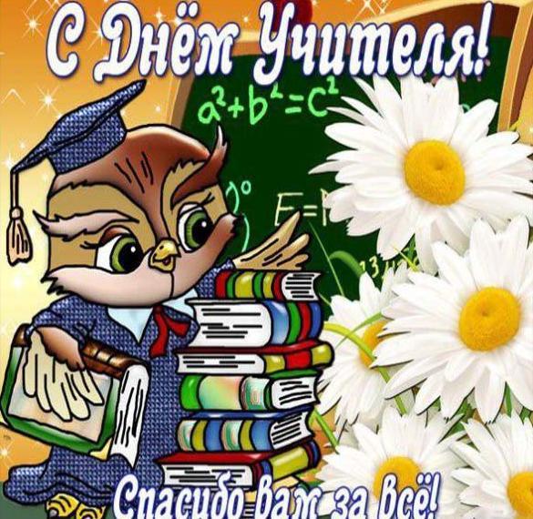 Открытка на день учителя математики