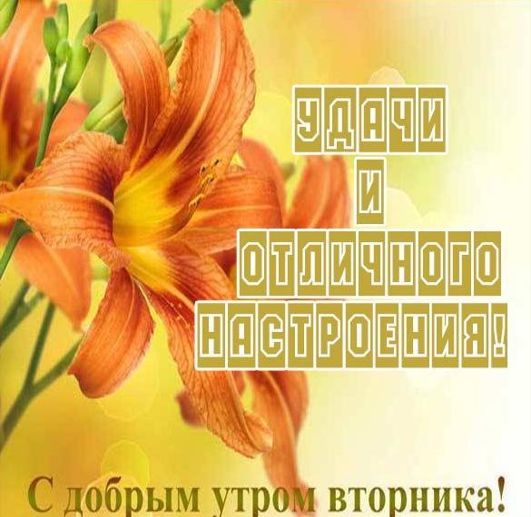 Открытка удачного дня и хорошего вторника