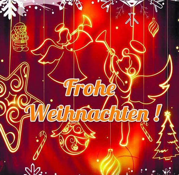 Открытка на Рождество на немецком