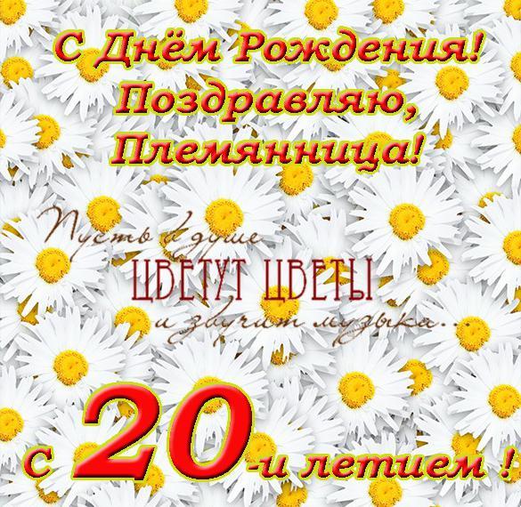 Поздравления с днем рождения 20 летием племяннице от тети