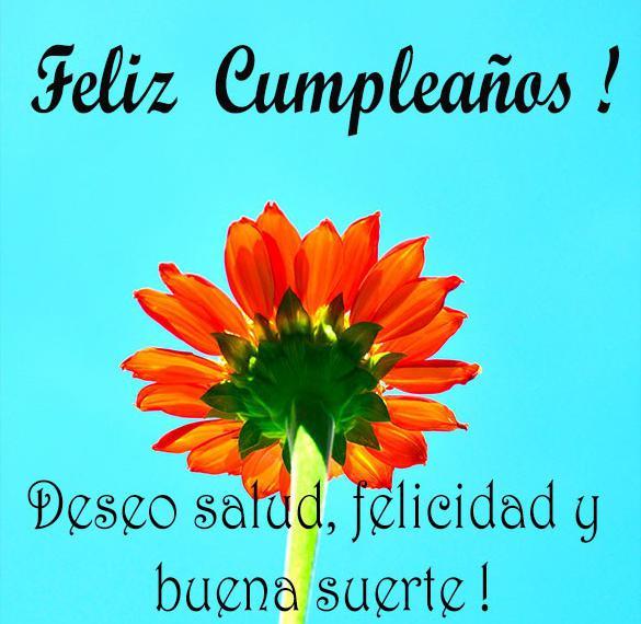 Открытка с днем рождения с пожеланием по испански