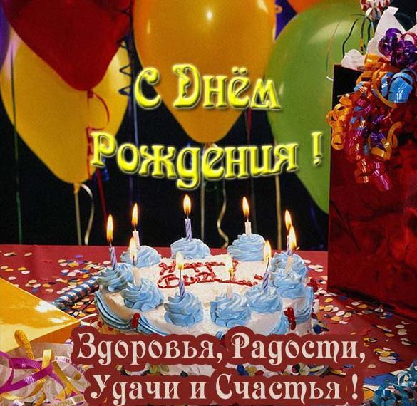 Открытка с днем рождения с красивыми воздушными шариками