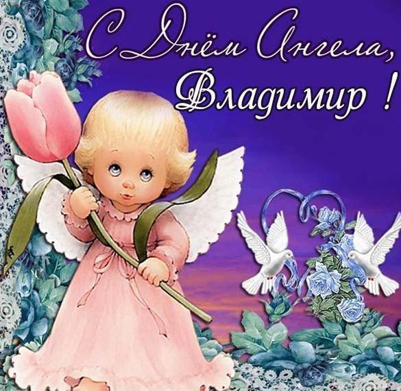 Открытка с днем Владимира на день ангела