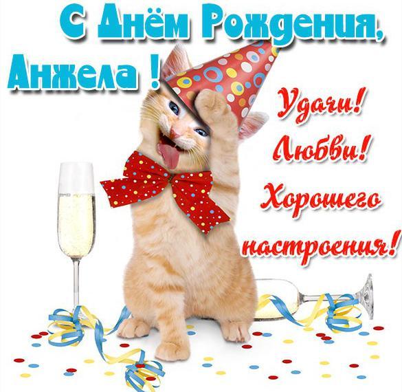 Прикольная открытка с днем рождения Анжела
