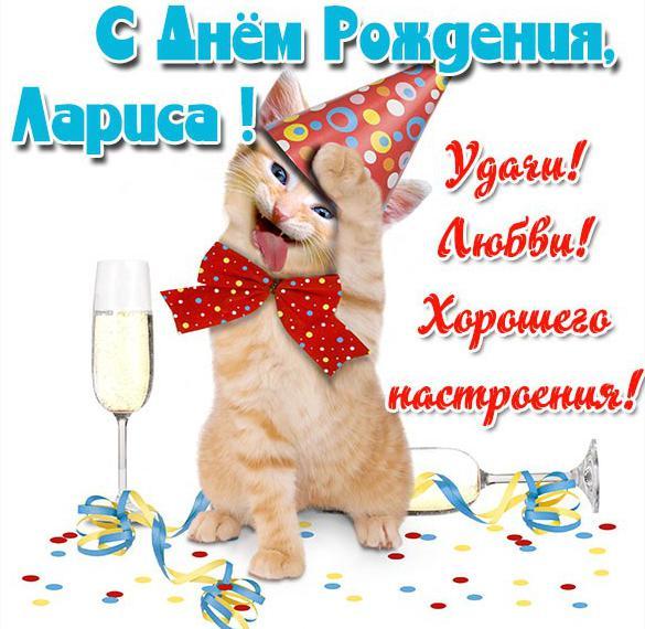 Прикольная открытка с днем рождения Лариса