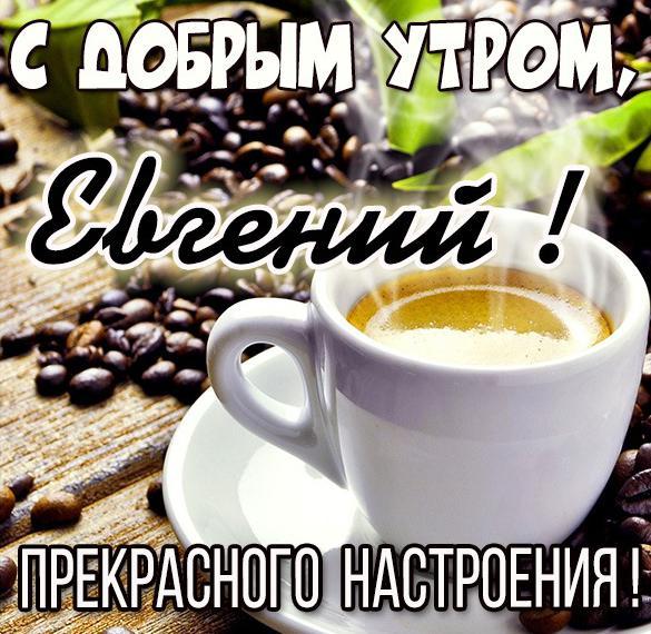 Открытка с добрым утром Евгений