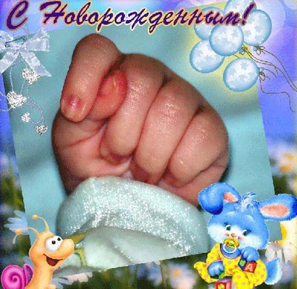 Прикольная открытка с новорожденным сыном