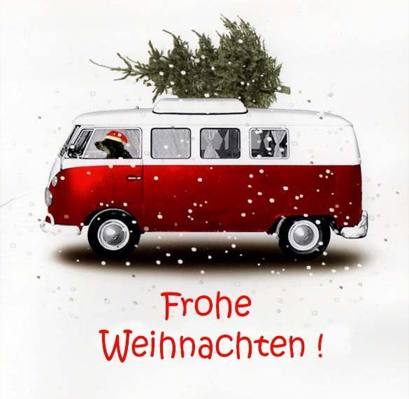 Открытка с Новым Годом на немецком