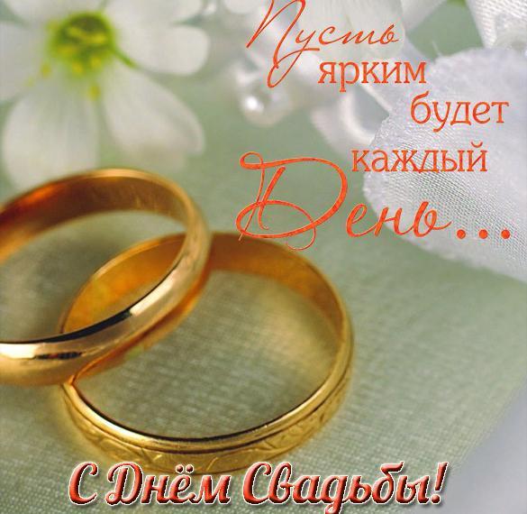Открытка с пожеланиями в день свадьбы