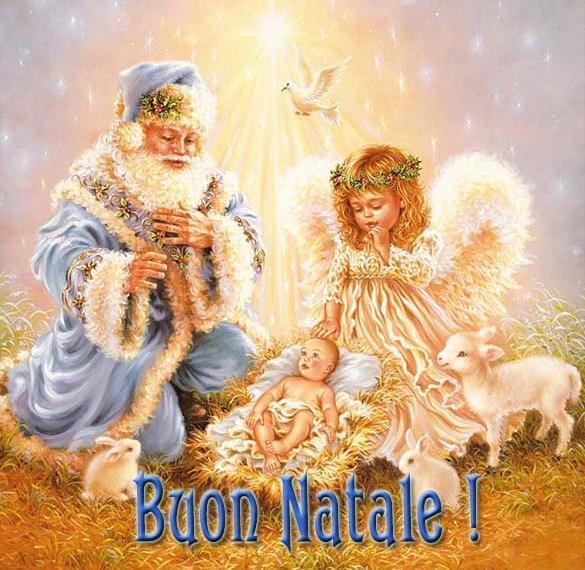 Открытка с Рождеством на итальянском