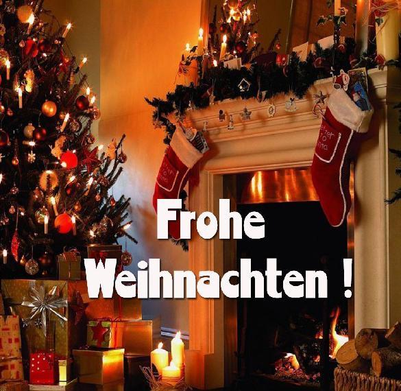 Открытка с Рождеством на немецком языке