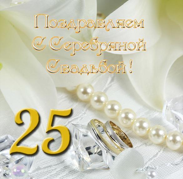 Фото открытка с серебряной свадьбой