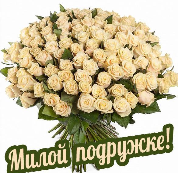 Открытка с цветами для подружки