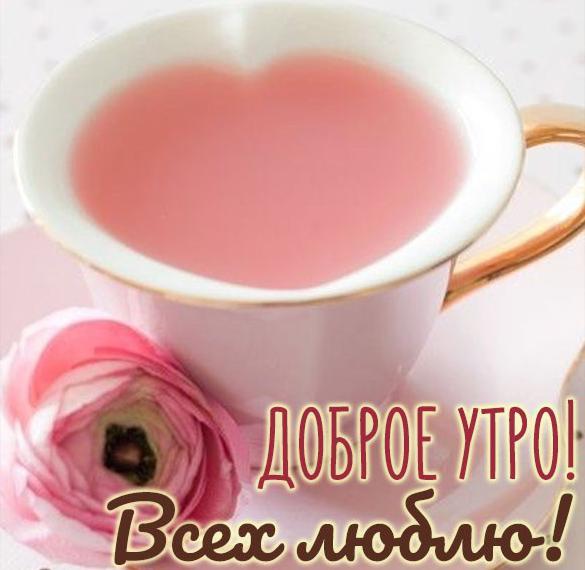 Открытка всех люблю доброе утро