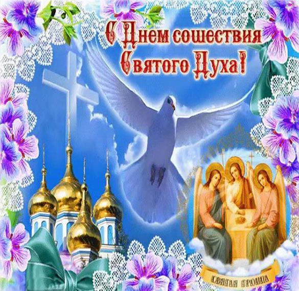 Поздравительная открытка на Духов день