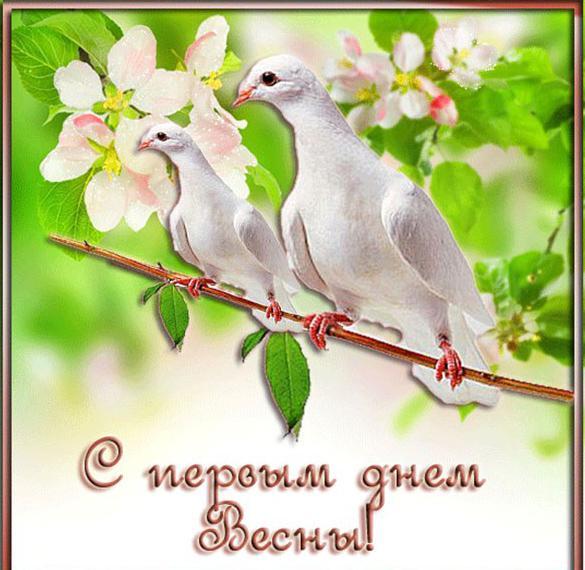 Поздравительная открытка с 1 марта