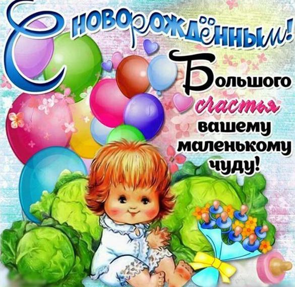 Поздравительная электронная открытка с новорожденным мальчиком
