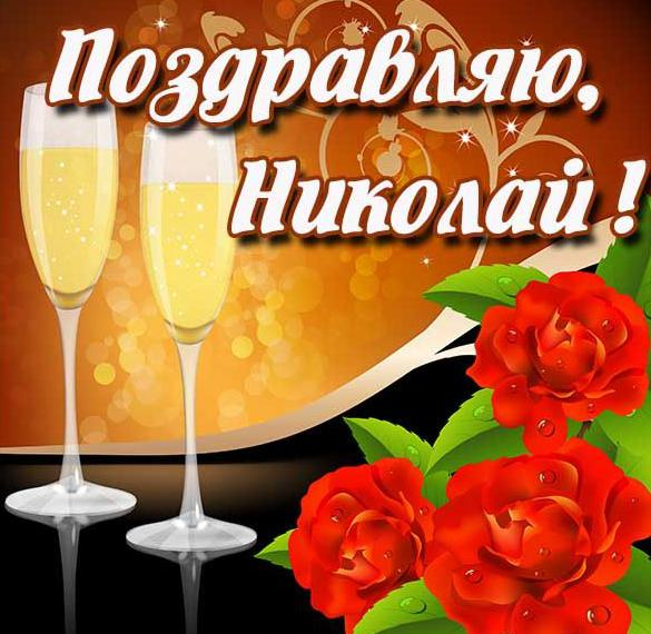Открытка с поздравлением Николаю