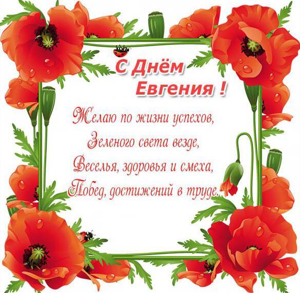 Картинка с поздравлением с днем Евгения для Евгения