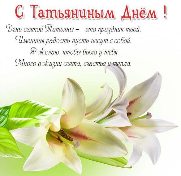 Виртуальная открытка с красивым поздравлением с днем Татьяны