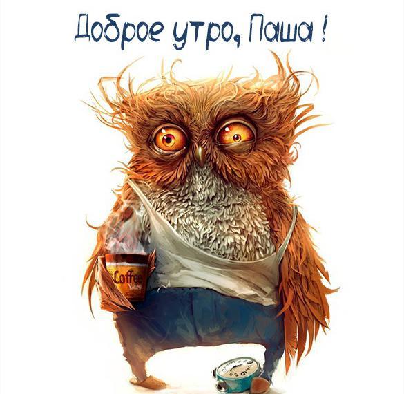 Пожелание доброе утро Паша в картинке
