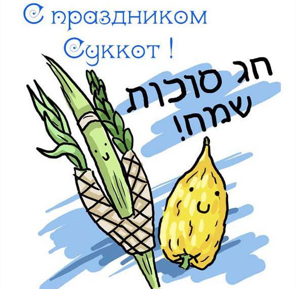 Картинка на праздник Суккот с поздравлением