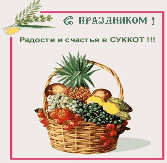 Картинка на праздник Суккот