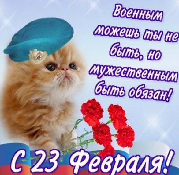 Прикольная открытка на праздник 23 февраля