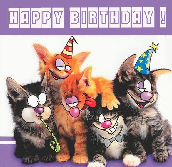 Прикольная картинка с днем рождения на английском