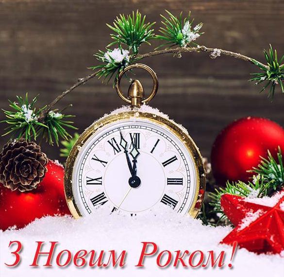 Приветственная открытка с Новым Годом на украинском языке