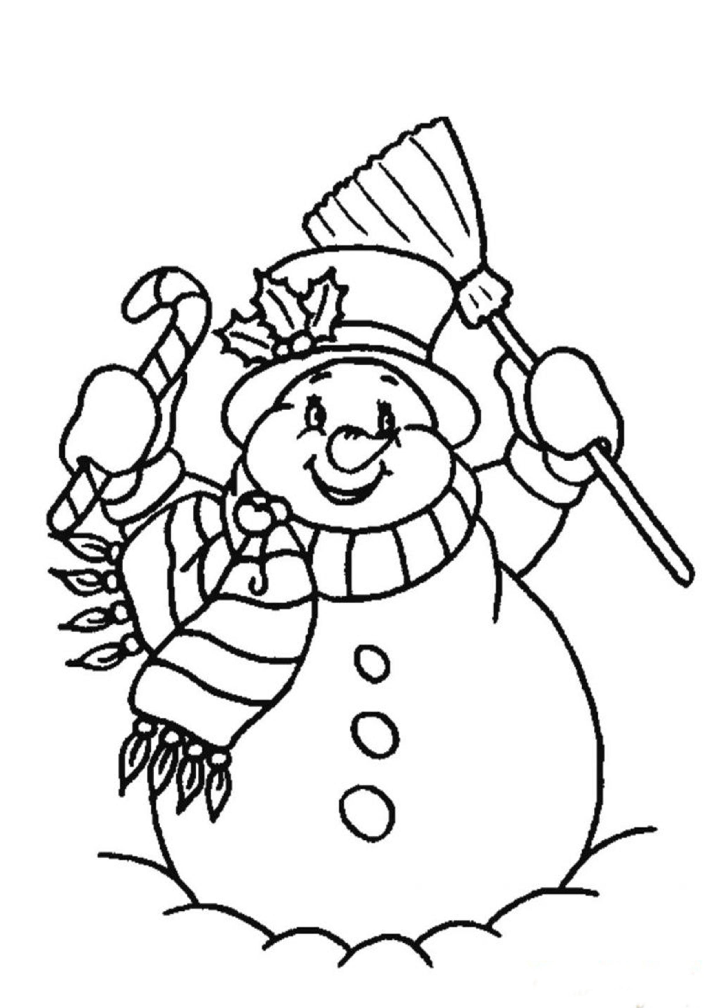 Раскраска на Новый год для детей