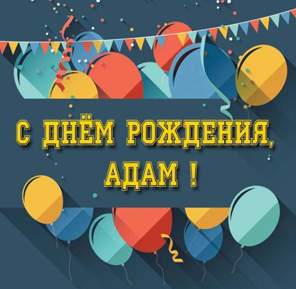 С днем рождения картинки адам