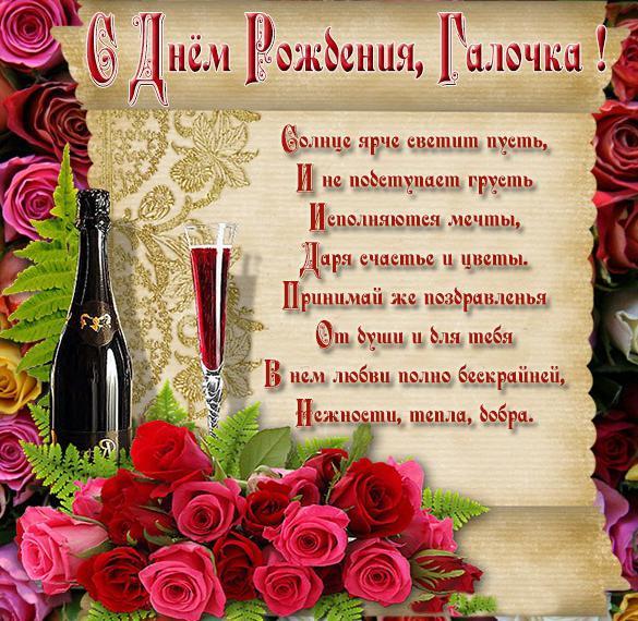 Красивая картинка с днем рождения Галочка