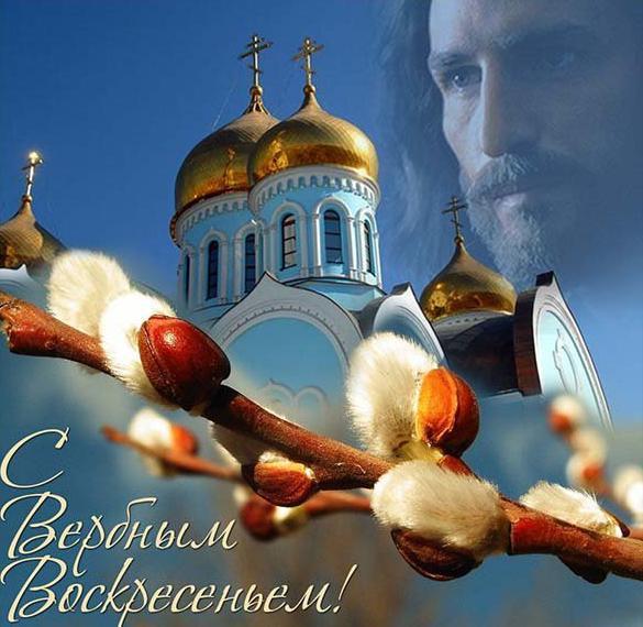 Картинка с Вербным Воскресеньем