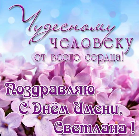 Электронная открытка с днем имени Светлана