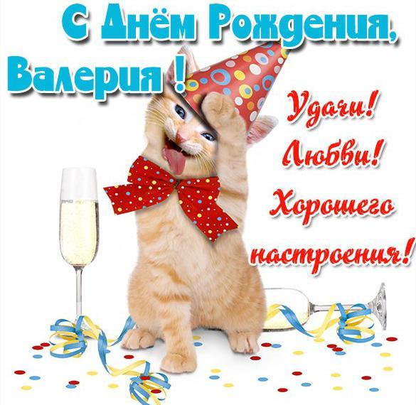 Прикольная картинка Валерия с днем рождения