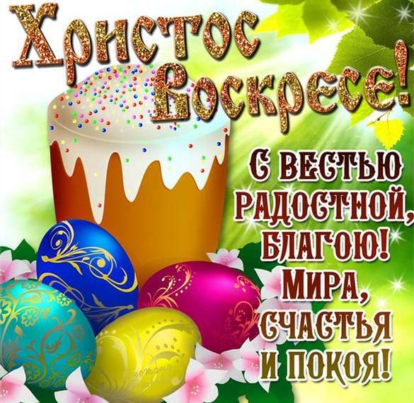 Картинка с яйцами на Пасху