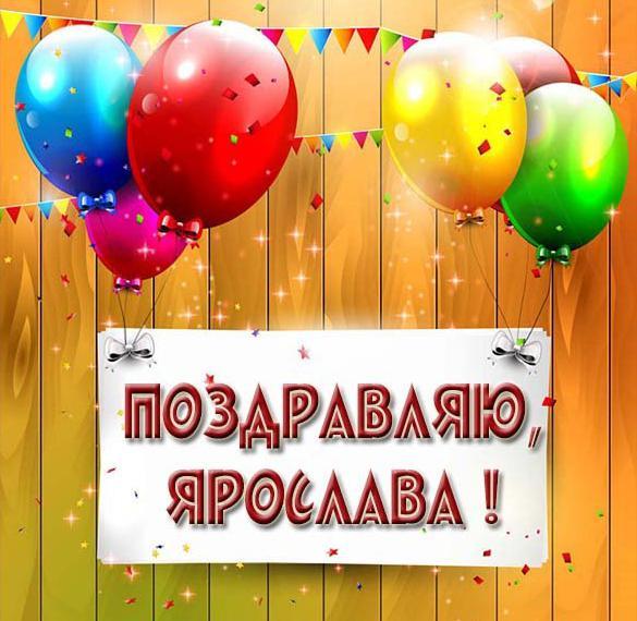 Картинка Ярослава поздравляю