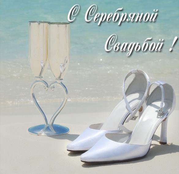 Замечательная картинка с серебряной свадьбой