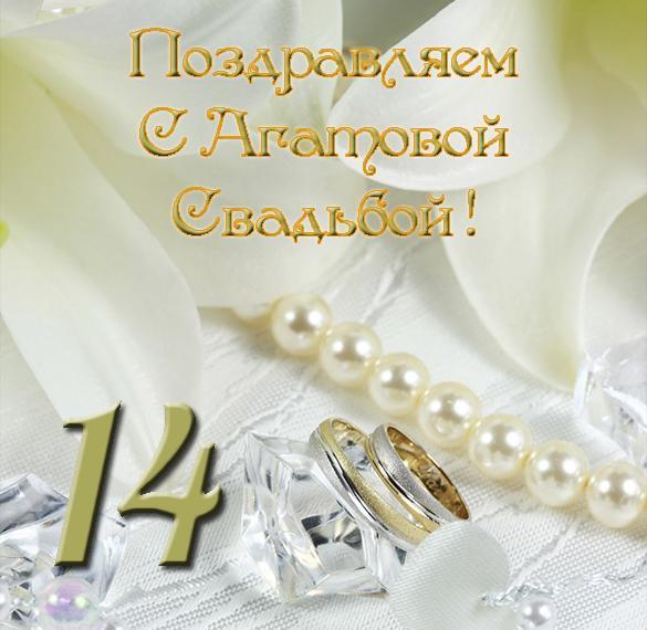 Смешное для, с днем агатовой свадьбы открытка
